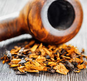 Pipe tobacco. Shallow depth of field Royalty Free Stock Image