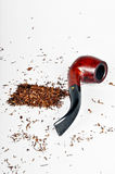 Pipe and tobacco Stock Image