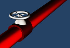 Pipe and valve Stock Photos