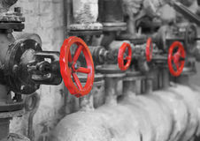 Pipe valve Stock Photo