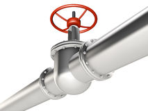 Pipe and valve Stock Photo