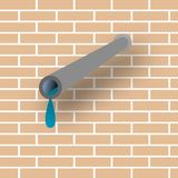 Pipe and wall Royalty Free Stock Photography