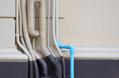 Pipe on wall Royalty Free Stock Images