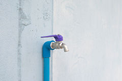 Pipe on the wall Royalty Free Stock Image