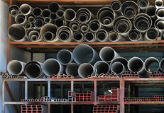 Pipe warehouse Stock Image