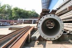 Pipe warehouse Stock Photo