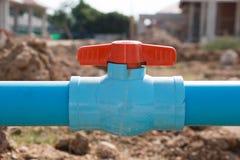 Pipe water valve Stock Photo