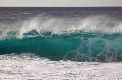 Pipe wave, Hawaii. View at big pipe wave in North Shore, Oahu Stock Image
