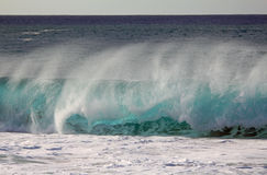 Pipe wave in North Shore, Oahu, Hawaii Stock Photos