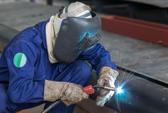Pipe welding royalty free stock photography