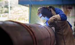 Pipe welding Royalty Free Stock Image