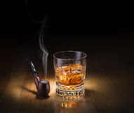 Pipe and whiskey Stock Photos
