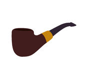 Pipe wood tobacco smoke hipster icon. Vector graphic Stock Photos