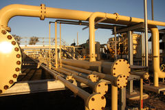 Pipe work in energy sector Royalty Free Stock Photo