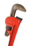Pipe Wrench. Isolated on a White Background Royalty Free Stock Photo