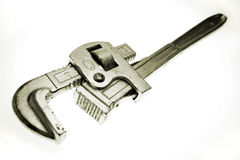 Pipe wrench. Isolated over white background stock images