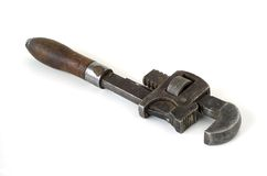 Pipe Wrench. Antique pipe wrench used by a plumber or pipefitter Royalty Free Stock Photography