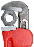 Pipe Wrench & Nut Stock Photos