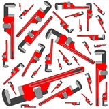Pipe wrench pattern Royalty Free Stock Images