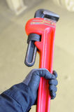 Pipe wrench or plier wrench, Tools equipment for use in heavy job. Stock Images