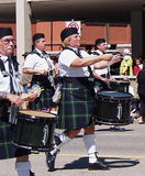 Pipeband Drummers On Parade Royalty Free Stock Image