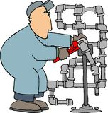 Pipefitter illustration stock