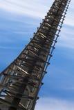 Pipeliene bridge. Industrial pipeline bridge to the sky Stock Photo