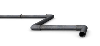 Pipeline. Illustration of a gas or oil pipeline.  on white background Royalty Free Stock Photography