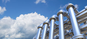 Pipeline. On a sky background Royalty Free Stock Photography
