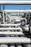 Pipeline. Industrial pipeline in an industry of gas and oil stock images