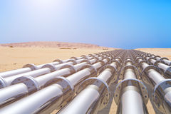 Pipeline. Several pipeline in the desert Royalty Free Stock Photography