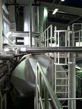 Pipeline. In the factory, boiler-room stock image