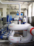 Pipeline. Factory, boiler-room, power royalty free stock photo