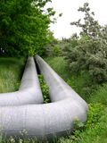 Pipeline. On the grass, power royalty free stock image