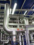Pipeline. In the factory, power stock images