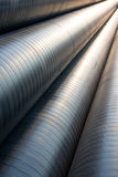Pipeline. Pipes in a stack with a diminishing perspective Royalty Free Stock Photography