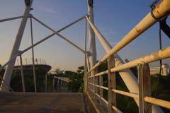Pipeline architecture bridge. Bike way asphalt texture in thammasart university rangsit campus Royalty Free Stock Images