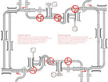 Pipeline background abstract illustration Stock Images