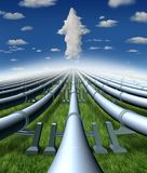 Pipeline Business stock illustration