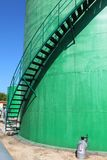 Pipeline and storage tanks Stock Image