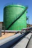 Pipeline and storage tanks Stock Photo
