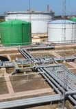 Pipeline and storage tanks Stock Photography