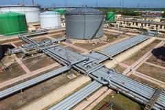 Pipeline and storage tanks Stock Photos