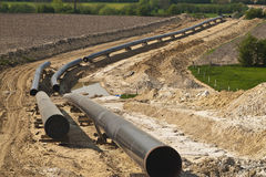 Pipeline construction Royalty Free Stock Photography