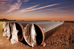 Pipeline construction Stock Image