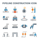 Pipeline construction icon. Pipeline construction industry and worker vector icon set design isolated on white background Stock Photography