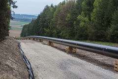 Pipeline construction Stock Images