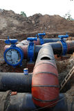Pipeline construction site Stock Images