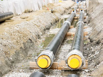 Pipeline construction Royalty Free Stock Image