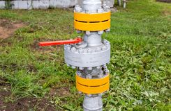 Pipeline with control valve. Industrial business concept Royalty Free Stock Photo